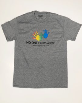 no one fights alone-Cancer Sucks logo-Shirley's Way-Cancer Sucks-Help with bills-People Helping People-goHaffers-Split the pot-Queen of Hearts