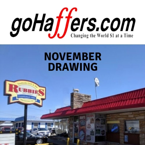 November GoHaffers Drawing at Rubbies