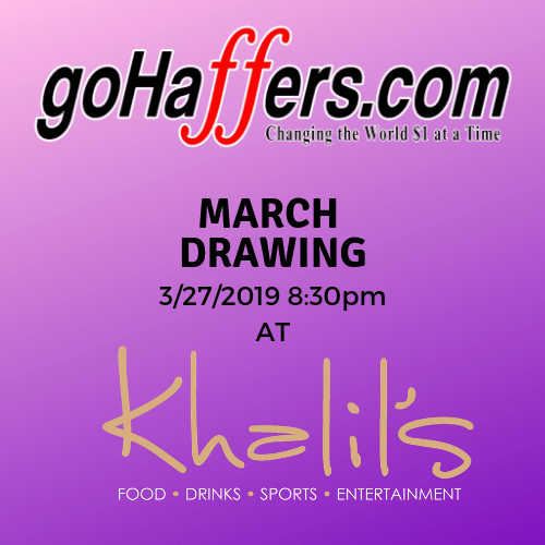 GoHaffers 3-27-19 Drawing at Khalil's